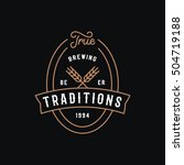 traditional brewery logo... | Shutterstock .eps vector #504719188