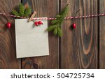 christmas blank sheet of paper... | Shutterstock . vector #504725734