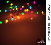 vector christmas lights | Shutterstock .eps vector #504726820