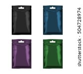 blank glossy bag packaging with ... | Shutterstock .eps vector #504728974