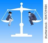 gender equality business... | Shutterstock .eps vector #504729484
