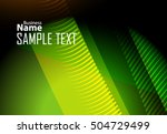 green abstract template for... | Shutterstock .eps vector #504729499
