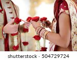 amazing hindu wedding ceremony. ... | Shutterstock . vector #504729724