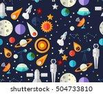 vector flat seamless texture... | Shutterstock .eps vector #504733810