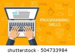 programming skills concept.... | Shutterstock .eps vector #504733984