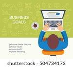business goals concept.... | Shutterstock .eps vector #504734173