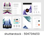 geometric background template... | Shutterstock .eps vector #504734653
