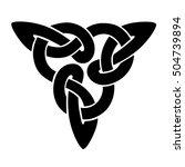 vector celtic knot.tattoo.... | Shutterstock .eps vector #504739894