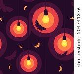 seamless purple and orange... | Shutterstock .eps vector #504741376