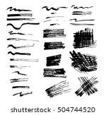 vector illustration. set of... | Shutterstock .eps vector #504744520