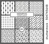 collection of swatches memphis... | Shutterstock .eps vector #504745648