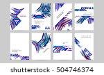 geometric background template... | Shutterstock .eps vector #504746374