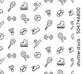 seamless pattern with sport... | Shutterstock .eps vector #504746800