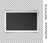 photo frame retro with shadow... | Shutterstock .eps vector #504747478