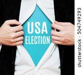usa election. politics concept. ... | Shutterstock . vector #504749293
