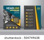 formal business brochure flyer... | Shutterstock .eps vector #504749638