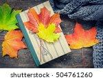 autumn still life   warm... | Shutterstock . vector #504761260