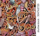cartoon cute doodles... | Shutterstock .eps vector #504763720