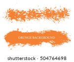hand painted brush strokes... | Shutterstock .eps vector #504764698