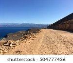 danger road through the... | Shutterstock . vector #504777436