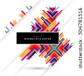 geometric background template... | Shutterstock .eps vector #504781516