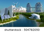future city on the coast.3d... | Shutterstock . vector #504782050