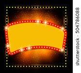 abstract shining retro light... | Shutterstock .eps vector #504786088