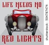 retro hot rod illustration with ... | Shutterstock .eps vector #504787474