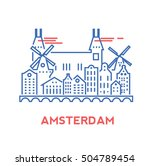 amsterdam city architecture... | Shutterstock .eps vector #504789454