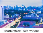 abstract blur bokeh cityscape... | Shutterstock . vector #504790900