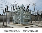 power transformer in switchgear.   Shutterstock . vector #504790960