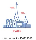 paris city architecture retro... | Shutterstock .eps vector #504791500