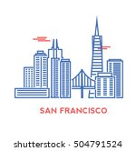 san francisco city architecture ... | Shutterstock .eps vector #504791524