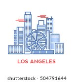 los angeles city architecture... | Shutterstock .eps vector #504791644