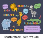 animal sounds.african animals... | Shutterstock .eps vector #504795238