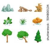 landscape natural elements set...   Shutterstock .eps vector #504800134