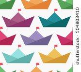 seamless wallpaper with... | Shutterstock .eps vector #504803410