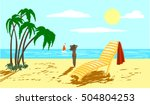 rest on the sea | Shutterstock .eps vector #504804253