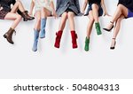 many woman with colorful shoes... | Shutterstock . vector #504804313