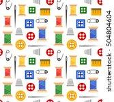 illustration seamless pattern... | Shutterstock . vector #504804604