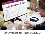 car insurance policy form...   Shutterstock . vector #504808330