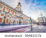 the puerta del sol square is... | Shutterstock . vector #504812176