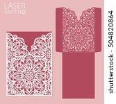 die laser cut wedding card... | Shutterstock .eps vector #504820864