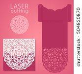 vector die laser cut envelope... | Shutterstock .eps vector #504820870