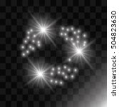 vector glowing stars  lights... | Shutterstock .eps vector #504823630