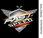 fast speed logo concept vector. | Shutterstock .eps vector #504827350