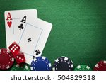 playing cards  poker chips  and ... | Shutterstock . vector #504829318