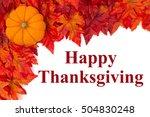 happy thanksgiving greeting ... | Shutterstock . vector #504830248