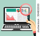web analytics information and...   Shutterstock .eps vector #504832033