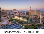 Stock photo aerial view of las vegas strip in nevada as seen at night usa 504834184